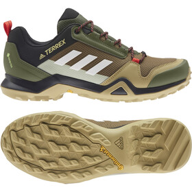 adidas TERREX AX3 Gore-Tex Chaussures de randonnée Imperméable Homme, wild pine/crystal white/vivid red